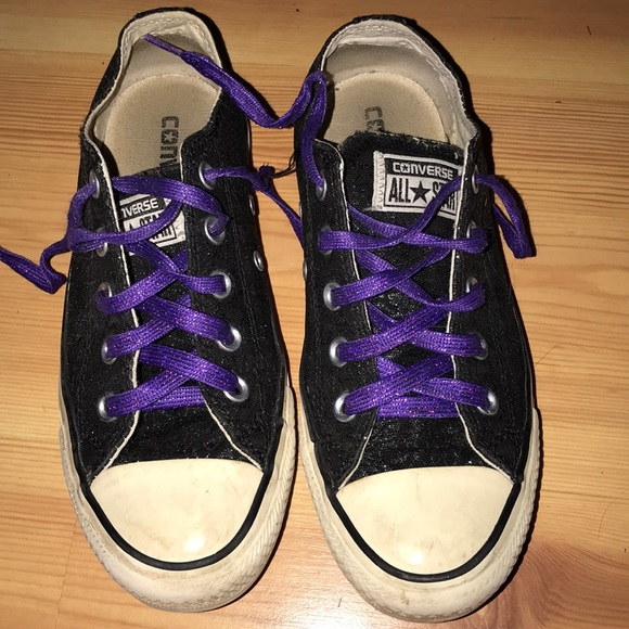 30d82db573ef ... sweden black sparkly converse with sparkly purple laces 086d9 4d8b8 ...